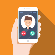 hand holding cellphone vector icon